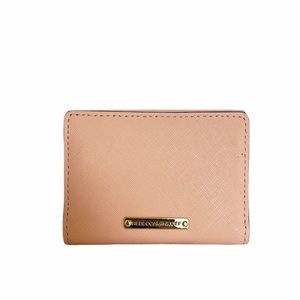 Rebecca Minkoff   Pink Saffiano Coin/Card Wallet